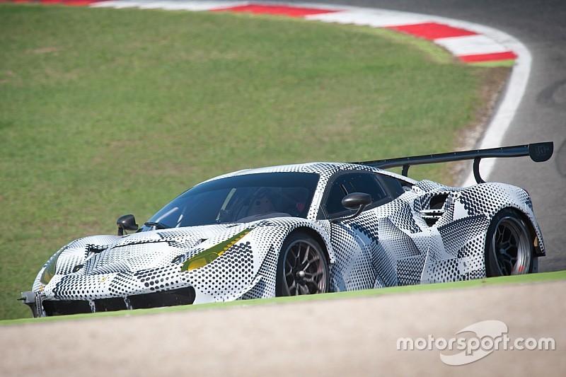 La nouvelle Ferrari 488 GTB version GTE aperçue en essais