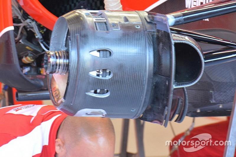 Ferrari: tornano i cestelli dei freni con tre fori ogivali