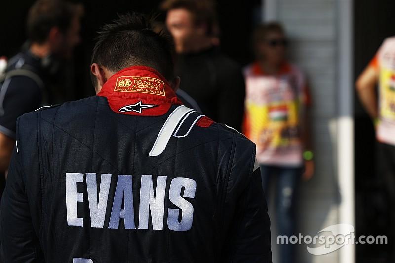 Эванс потерял место в первом стартовом ряду