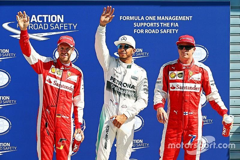 Sem concorrência, Hamilton crava sétima pole seguida; Massa é 5º