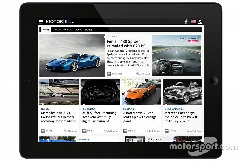 Motorsport.com erweitert Angebot um neue Plattform Motor1.com