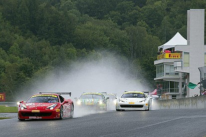 Ferrari Challenge North America – Victories beneath the rain for Anassis, Zoi and Saada