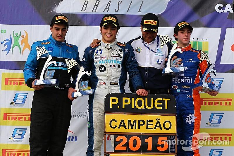 Pedro Piquet vence e é bicampeão da F3 Brasil