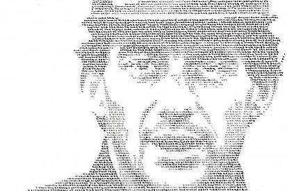 """Com frases sobre Senna, artista cria """"retrato escrito"""""""