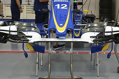 Sauber: l'ala anteriore segue la filosofia della Red Bull