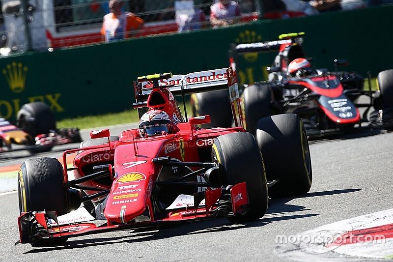 """Raikkonen admite """"dedo na posição errada"""" na largada em Monza"""