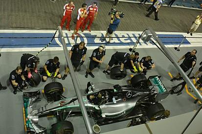 La Ferrari studia le prove di pit stop della Mercedes!