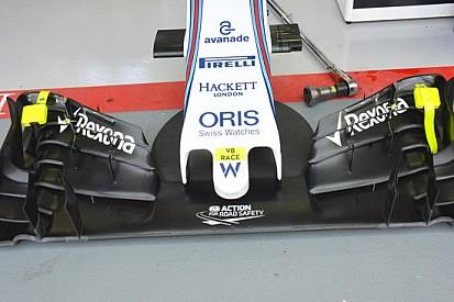 Williams: la FW37 sente l'ala pensata per l'alto carico