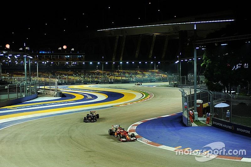 La F1 restringe los límites de la pista en Singapur