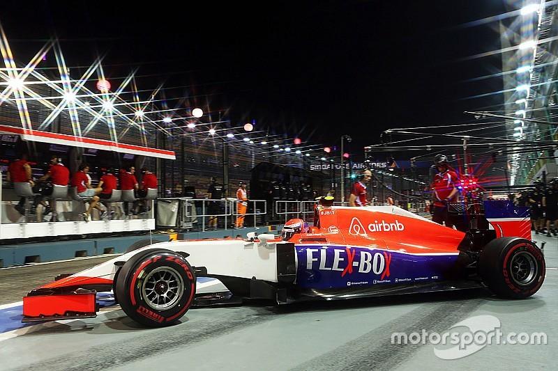 Pilotos da equipe Manor perdem posições no grid em Cingapura