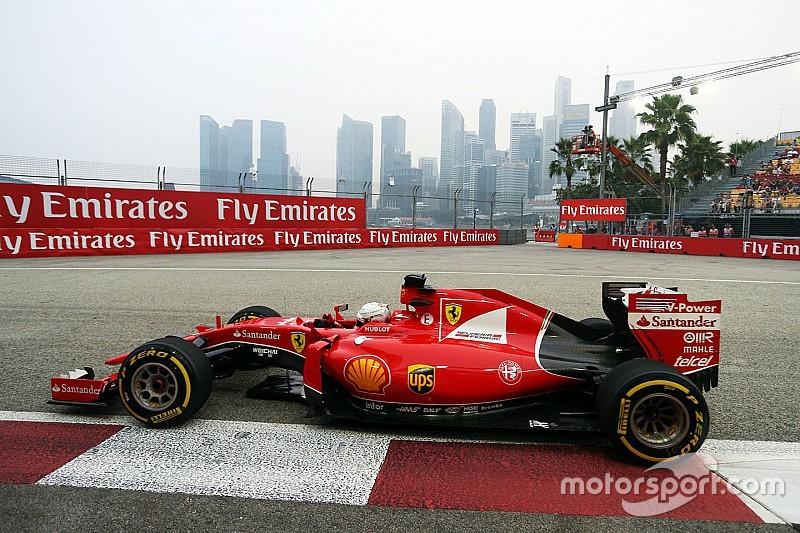 Ferrari coloca 1.1s na Mercedes e lidera último ensaio em Cingapura