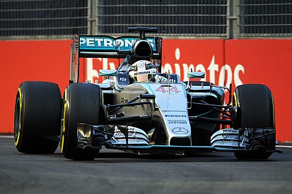 Hamilton and Rosberg to start P5 and P6 respectively for tomorrow's Singapore GP