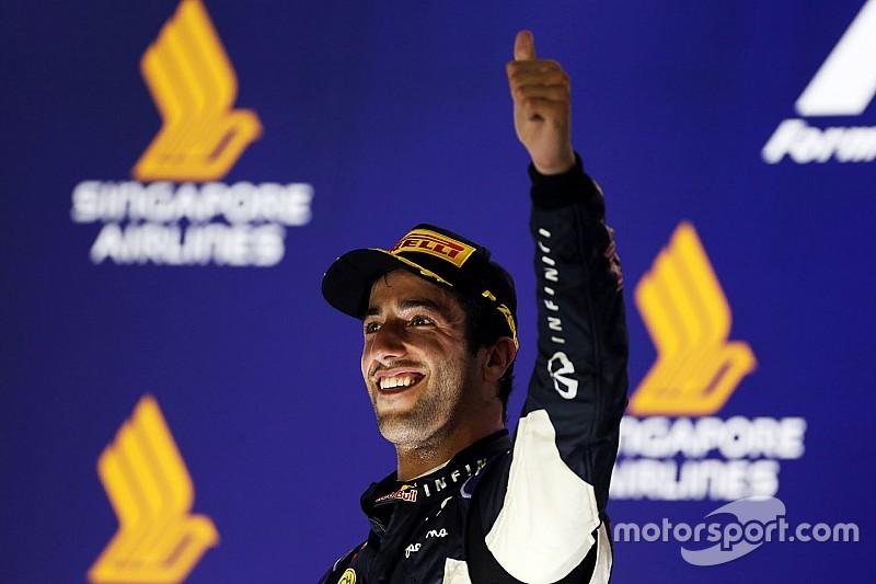 Ricciardo terminó satisfecho con su segundo lugar