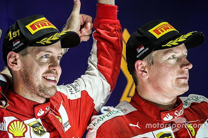 Raikkonen ready to support Vettel in F1 title battle