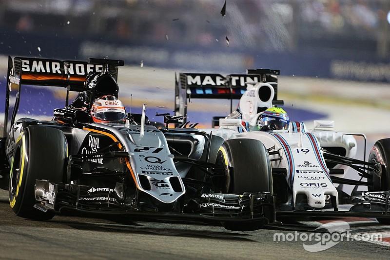 Hülkenberg admet ses torts pour l'accrochage avec Massa