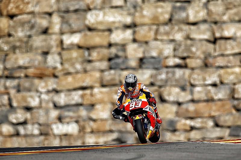 Márquez, el más veloz antes de clasificar en Aragón