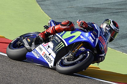 Yamaha qualifies on first and second row in Aragón time attack