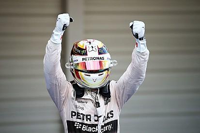 Hamilton se emociona após igualar 41 vitórias de Senna