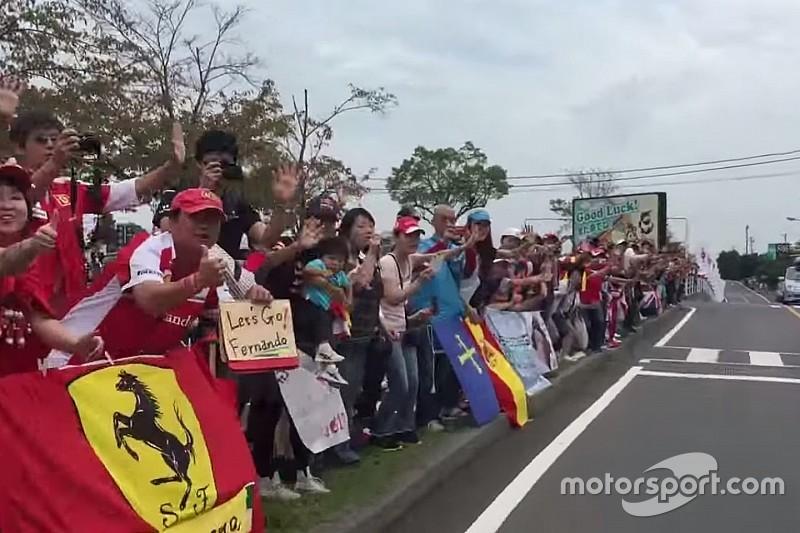 Vídeo: como é chegar a Suzuka sendo Fernando Alonso?