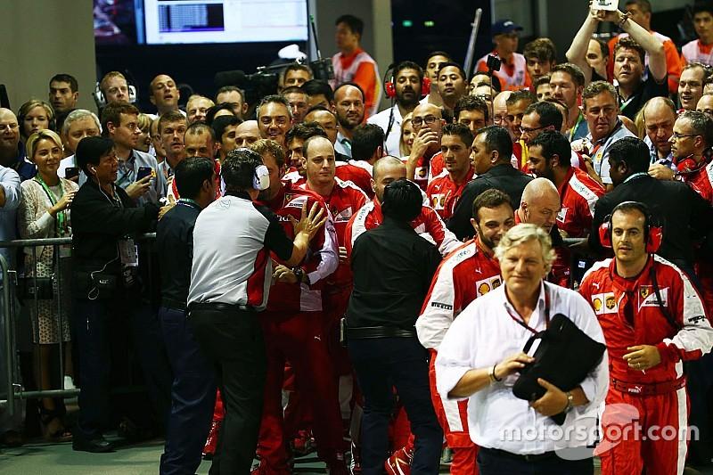 Ferrari se disculpa con la FIA por el incidente de Singapur