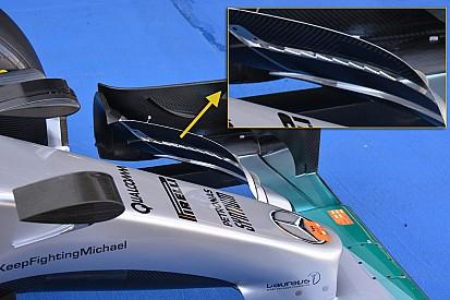 Mercedes introduz novo conceito de asa dianteira