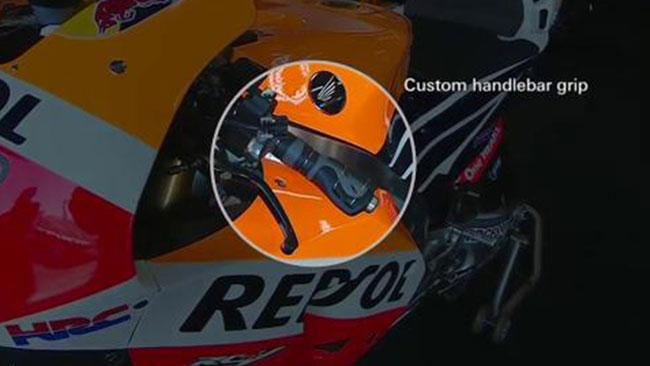Ecco la manopola Honda modificata per Marc Marquez