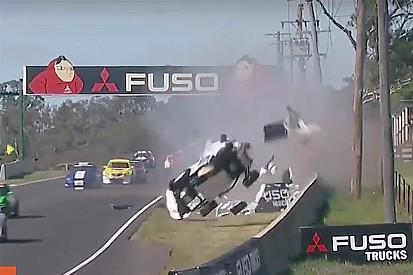 Bathurst support race cut short after horror crash