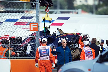 """Sainz """"perfectly fine"""" after practice accident"""