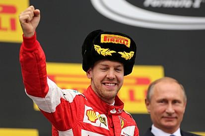 Vettel runner-up, Raikkonen fifth at Sochi