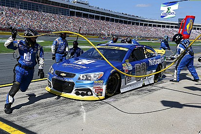 Oil or not, Chasers Dale Jr. and Kyle Busch are in trouble