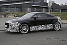 L'Audi TT-RS aperçue en test