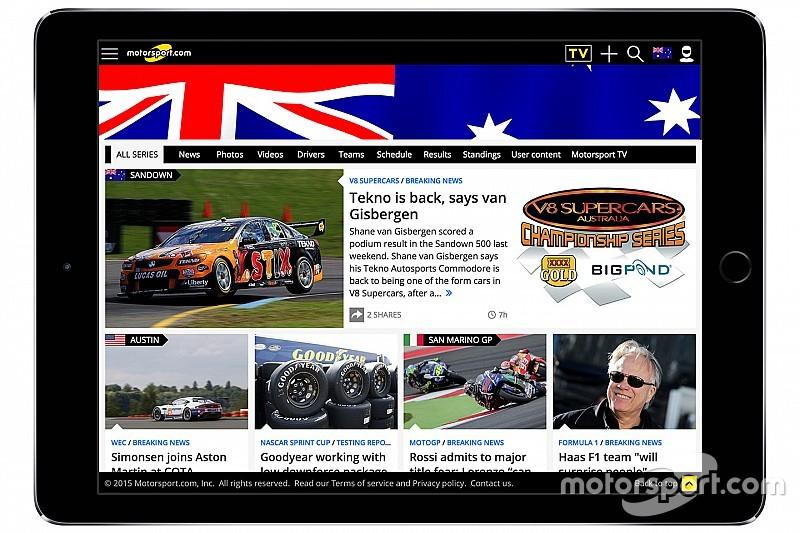 Motorsport.com lanceert Australisch digitaal platform