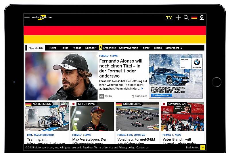 Motorsport.com lancia la piattaforma digitale tedesca