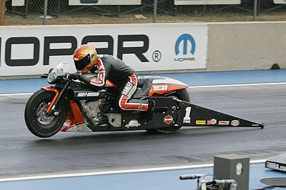 Aiming for fifth Pro Stock Motorcycle Championship Andrew Hines has no plans for let-up at Texas