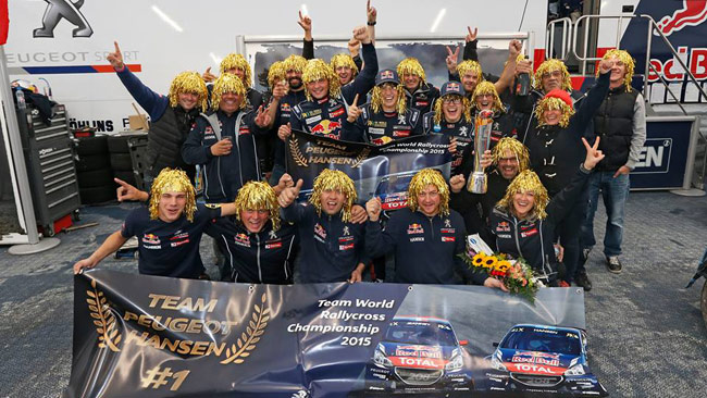 Il Team Peugeot Hansen è Campione WRX 2015