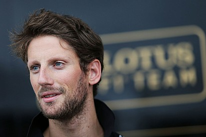 Formel-1-Fahrer Romain Grosjean fährt beim Race of Champions