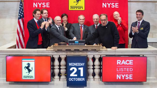 La Ferrari ha fatto il suo debutto a Wall Street