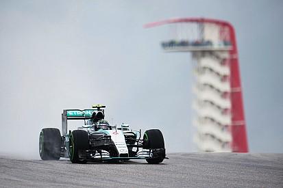 Rosberg fue el más rápido en condiciones intermedias en Austin