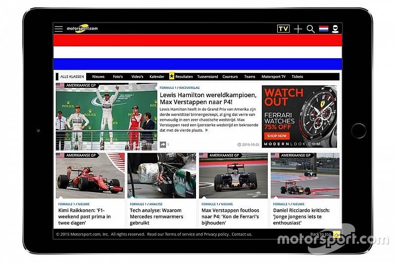 Motorsport.com lança plataforma digital na Holanda
