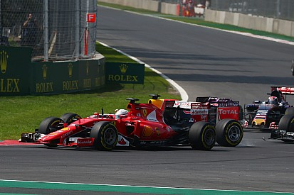Ferrari lambe feridas após corrida acidentada