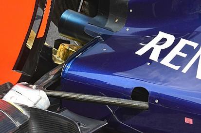 Red Bull: nolder sulle pance per estrarre più aria calda