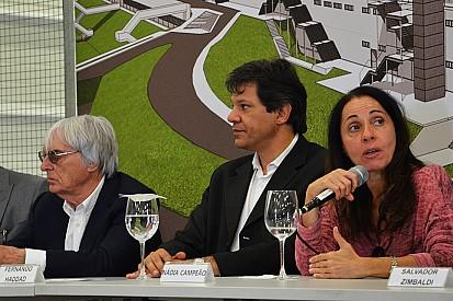 Maior obra da história de Interlagos agrada Ecclestone e Haddad