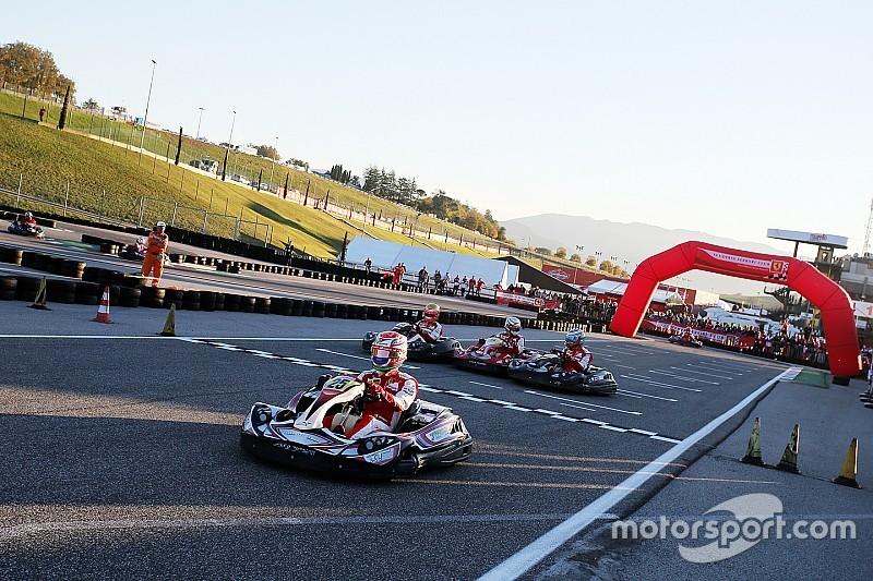 Gara di kart dei piloti Ferrari con finale a sorpresa!