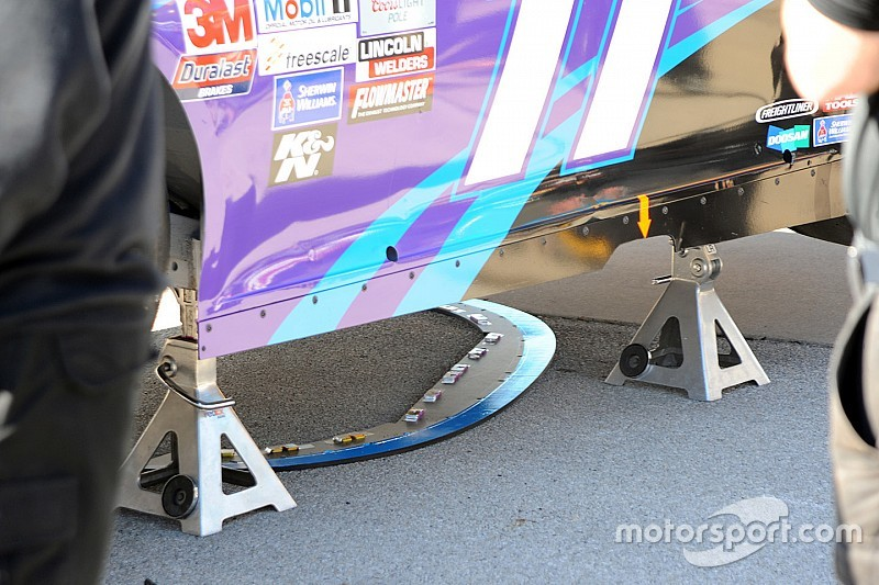 La NASCAR confisque les splitters de la Joe Gibbs Racing