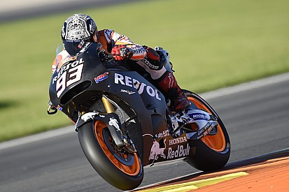 Marquez leads crash-filled first day of Valencia test