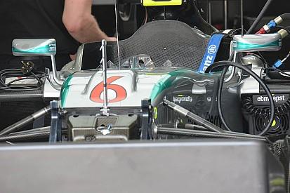Carro da Mercedes é flagrado com novo sistema de ar no bico