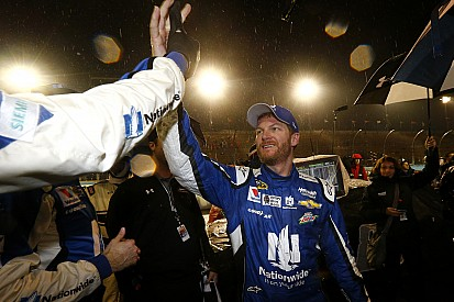 Dale Earnhardt Jr. wins rain-shortened Cup race