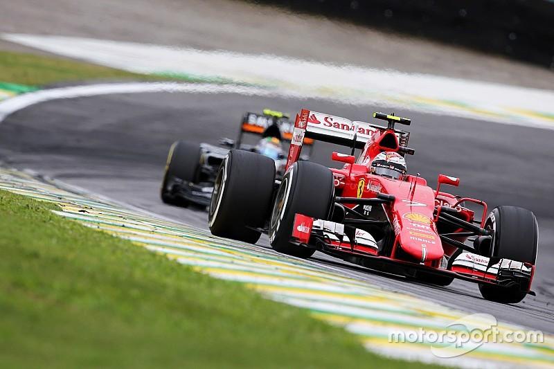 """Raikkonen se """"aburrió"""" en el Gran Premio de Brasil"""