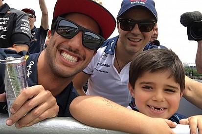 "Ricciardo: ""corrida foi chata, mas ver Felipinho foi legal"""