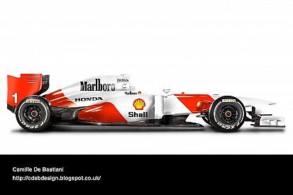 Como seriam as pinturas clássicas em carros atuais da F1?